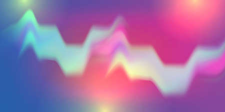 Abstract wave motion gradient background with trendy minimalist shapes