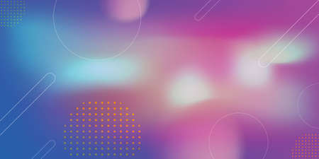 Pink and dark blue cyberpunk abstract background with gradient waves