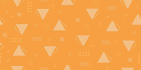 Yellow Triangle seamless pattern background, vector illustration with pyramid geometric abstract. Good for wrapping, textile, wallpaper, and print.
