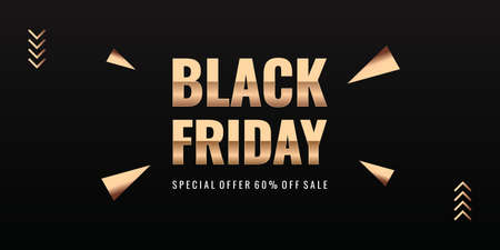 Black Friday Super Sale special offer. Realistic black gifts. Black background full of decorative festive object. Golden text lettering. Ilustracja