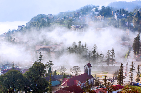 sapa: Sapa in the mist ,VietNam