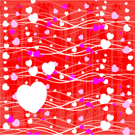 happy valentines day cards with ornaments, hearts, ribbon, angel and arrow Vector