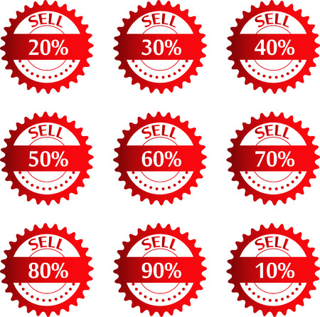 sell out: Discount price tags  Vector