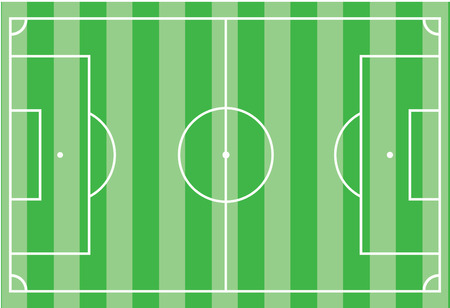 football pitch: Top view of soccer field or football field - Vector illustration