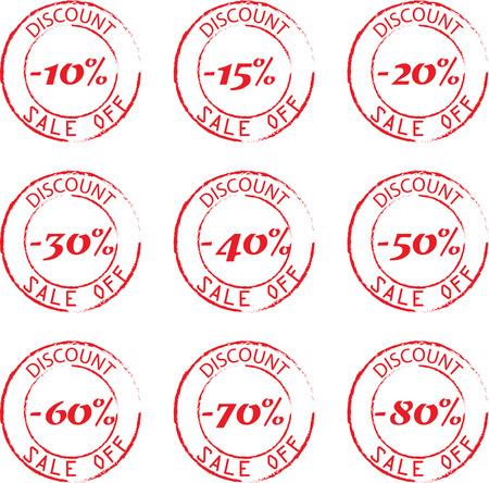 Grunge Commercial Stamps Set Vector