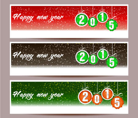 happy new year banner: banner set of happy new year