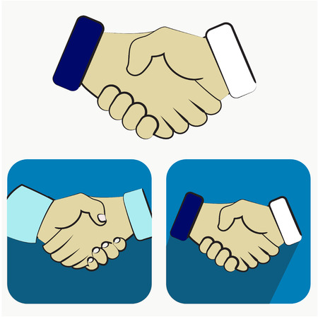 equal opportunity: Handshake icons