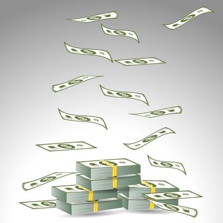 dollars geld Stock Illustratie