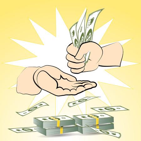 greenback: dollars money