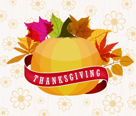 happy thanksgiving: Happy Thanksgiving Illustration
