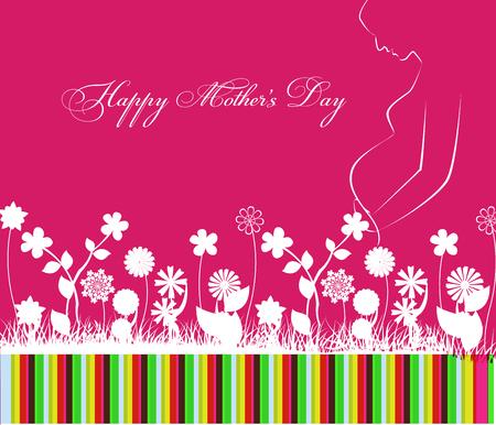 flower patterns: Celebraci�n feliz d�a de las madres con flores
