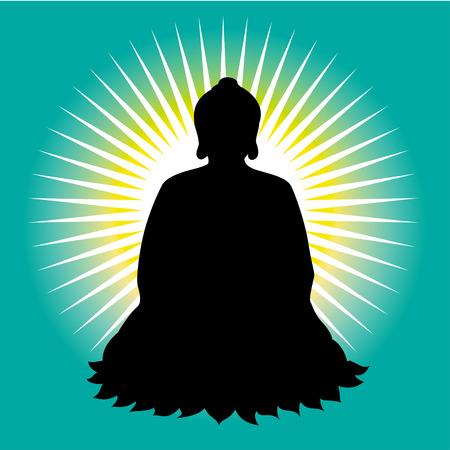buddist: Black buddha silhouette
