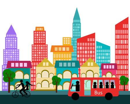 new york city skyline: vector city Illustration