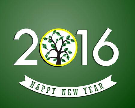 Money growth of 2016. Happy new year 일러스트