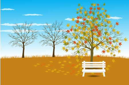 Vector illustration background Autumn Landscape Vector