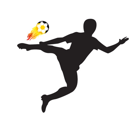 fire ball: Player shot the fire ball design elements Vector illustration Illustration