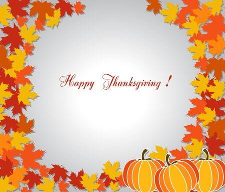 Happy thanksgiving and autumn Illustration