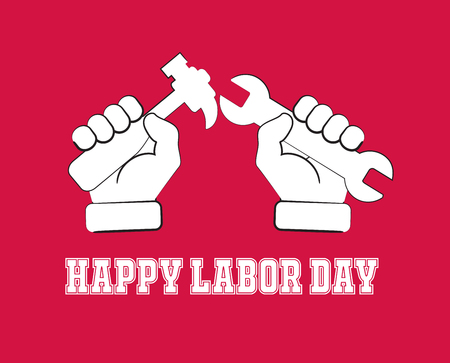 manual worker: Happy Labor Day