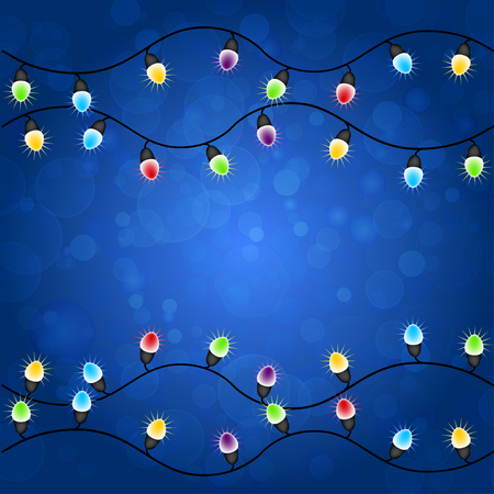 photographic effects: Merry christmas with Colourful Glowing Christmas Lights