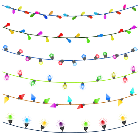 Merry christmas with Colourful Glowing Christmas Lights