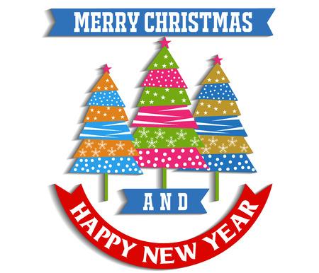 christmas greeting card: Merry christmas greeting card Illustration