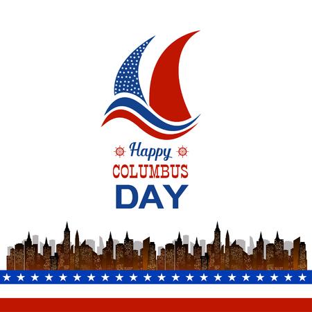 columbus: Happy Columbus Day illustration Illustration