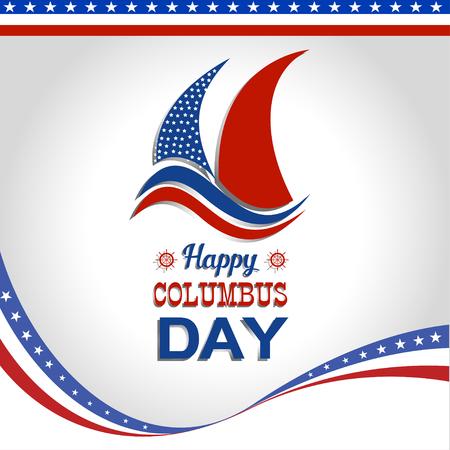 Happy Columbus Day illustration Vector Illustration
