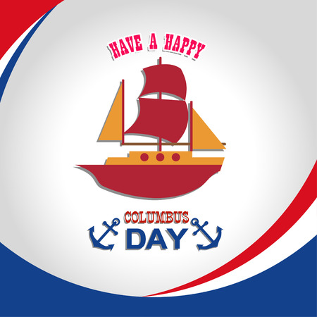 christopher: Happy Columbus Day illustration Illustration