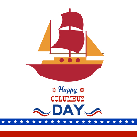 Happy Columbus Day illustration Illustration