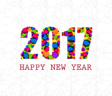 year greetings: 2017 Happy New Year Greetings Card Illustration