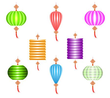 mooncake festival: Mid Autumn Festival vector background with lantern
