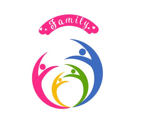 logo vector  happy family day. Illustration