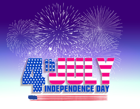 the americas: Fireworks background for 4th of July