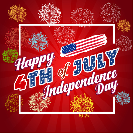 superstar: Fireworks background for 4th of July