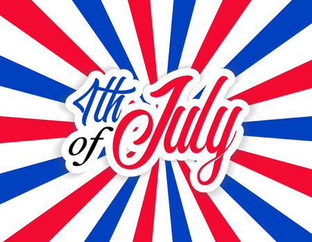 Happy Fourth of July Independence Day USA Celebrate Illustration