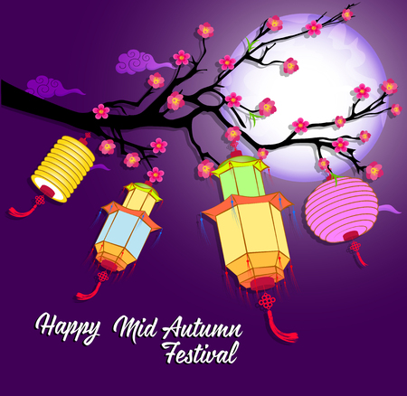 traditonal: Traditional background for traditions of Chinese Mid Autumn Festival or Lantern Festival