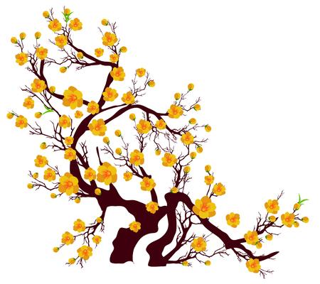 Vector flor de cerezo para el año nuevo chino y el año nuevo lunar Foto de archivo - 87254922