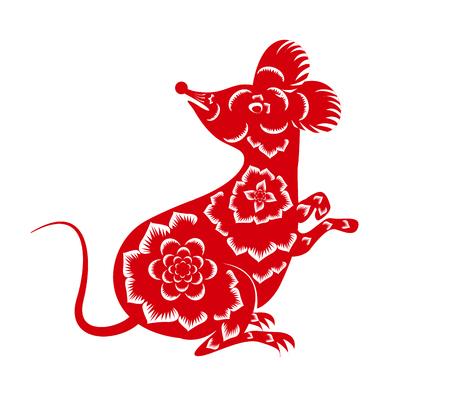 Gelukkig nieuw Chinees jaar 2020 jaar van de rat - jaar van de muis