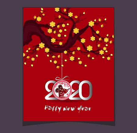 Bonne année chinoise 2020 année du Rat - année de la souris
