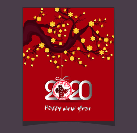 Happy New Chinese Year 2020 year of the Rat - year of the mouse Illustration