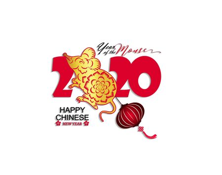 Happy New Chinese Year 2020 year of the Rat year of the mouse