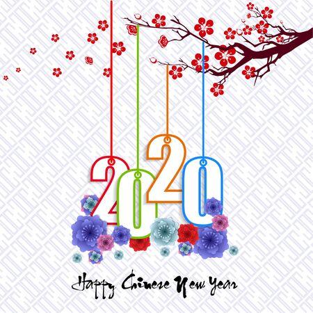 Frohes neues chinesisches Jahr 2020 Jahr des Rattenjahres der Maus