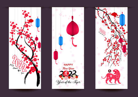 Happy Chinese new year 2022 - year of the Tiger Ilustrace