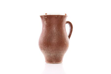 Image of an old vintage traditional pot isolated over white background with copyspace 版權商用圖片