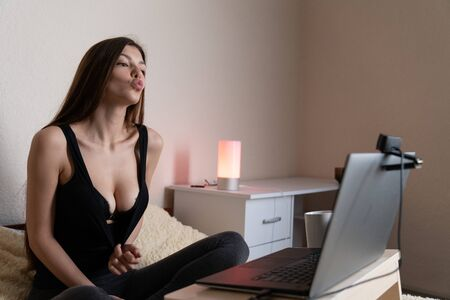 Breasts Teasing Stock Photos And Images 123rf