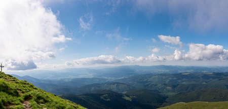 The Carpathians Hoverla Mountains Ukraine landscape springtime clouds sunrise beautiful view Standard-Bild