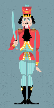 nutcracker: Traditional christmas nutcracker. Retro toys. Vector illustration Illustration