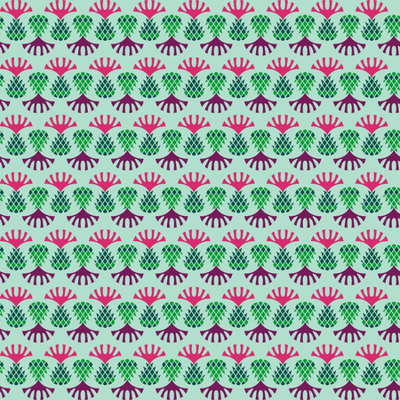 scot: Thistle seamless background pattern. Scottish ornament. Vector illustration