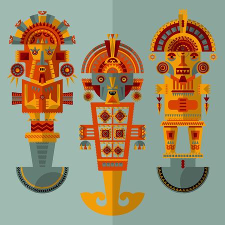 インカの儀式用のナイフします。トゥミ。ベクトル図 写真素材 - 49005352