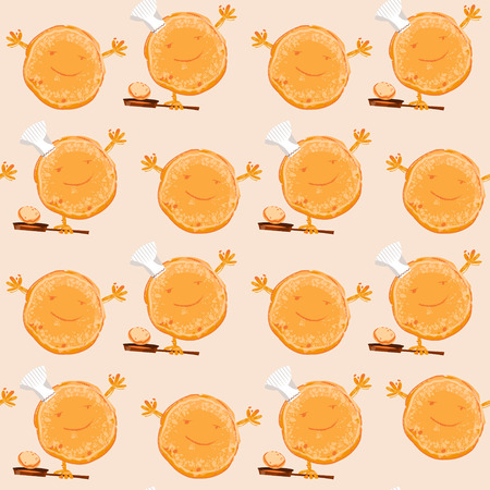 I love Pancakes. Happy Pancake Day! Seamless background pattern. Vector illustration